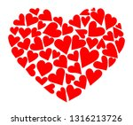 heart consisting of hearts.... | Shutterstock .eps vector #1316213726