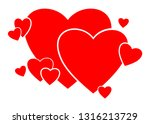 heart consisting of hearts.... | Shutterstock .eps vector #1316213729