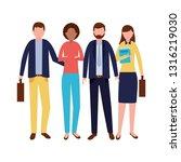 business people team | Shutterstock .eps vector #1316219030