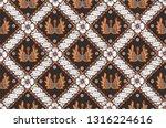 indonesian batik motifs. batik ...   Shutterstock .eps vector #1316224616