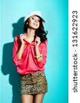 portrait of fashionable girl... | Shutterstock . vector #131622923