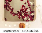 woman feet in luxury spa bath... | Shutterstock . vector #1316232356