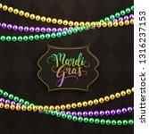 mardi gras holiday decorative... | Shutterstock .eps vector #1316237153