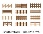 wood fence set. different... | Shutterstock .eps vector #1316245796