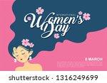 8 march   international women's ... | Shutterstock .eps vector #1316249699