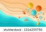 beach top view background with... | Shutterstock .eps vector #1316255750