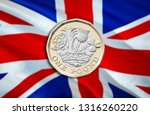 close up of british currency... | Shutterstock . vector #1316260220