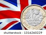 new one pound british sterling... | Shutterstock . vector #1316260229