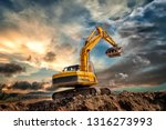 Crawler Excavator During...
