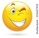smiley illustration   eye... | Shutterstock . vector #131627423
