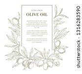 olive oil label template   Shutterstock .eps vector #1316283590