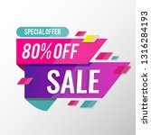 sale banner template 80  off | Shutterstock .eps vector #1316284193