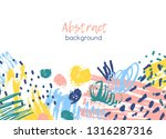 horizontal background decorated ... | Shutterstock .eps vector #1316287316