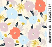 seamless pattern with abstract... | Shutterstock .eps vector #1316287559
