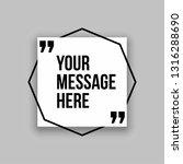 innovative set vector quotation ...   Shutterstock .eps vector #1316288690