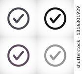 tick vector icon | Shutterstock .eps vector #1316301929