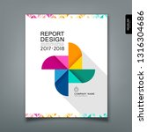 annual report colorful paper... | Shutterstock .eps vector #1316304686