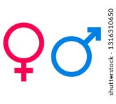 male and female icon symbol on... | Shutterstock .eps vector #1316310650