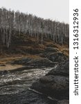 autumn mountain river stream...   Shutterstock . vector #1316312936