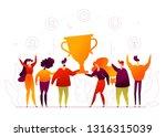 business success   modern flat... | Shutterstock .eps vector #1316315039