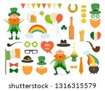 set of different elements and... | Shutterstock .eps vector #1316315579