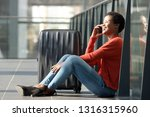 side portrait of happy young...   Shutterstock . vector #1316315960