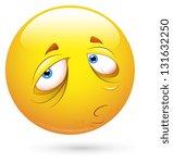 smiley illustration   sleepily... | Shutterstock . vector #131632250