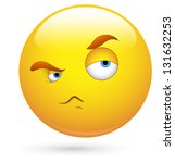smiley illustration   hatred... | Shutterstock . vector #131632253