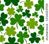 green seamless pattern with... | Shutterstock .eps vector #1316325920