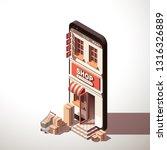 modern flat banner design... | Shutterstock .eps vector #1316326889