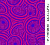 3d geometric striped donuts... | Shutterstock .eps vector #1316333453