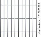 silhouette of prison grid.... | Shutterstock .eps vector #1316335223