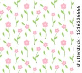 cute floral pattern in the... | Shutterstock .eps vector #1316336666