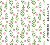 cute floral pattern in the... | Shutterstock .eps vector #1316337476
