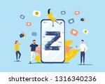 generation z vector... | Shutterstock .eps vector #1316340236