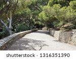 alley along the sea in... | Shutterstock . vector #1316351390