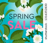spring sale background with... | Shutterstock .eps vector #1316352830