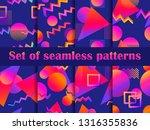 futurism seamless pattern set.... | Shutterstock .eps vector #1316355836