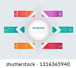 infographic business vector  | Shutterstock .eps vector #1316365940
