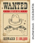 wanted poster for portrait ... | Shutterstock .eps vector #1316366936