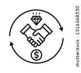 handshake with money and... | Shutterstock .eps vector #1316368550
