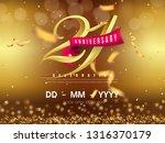 21 years anniversary logo... | Shutterstock .eps vector #1316370179