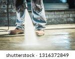 men using pressure washer for...   Shutterstock . vector #1316372849