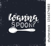 wanna spoon hand drawn... | Shutterstock .eps vector #1316374883