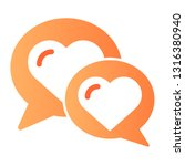 chat for love flat icon. speech ... | Shutterstock .eps vector #1316380940