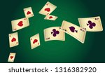 casino playing cards are... | Shutterstock .eps vector #1316382920