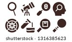 discovery icon set. 8 filled... | Shutterstock .eps vector #1316385623