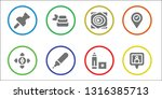 position icon set. 8 filled... | Shutterstock .eps vector #1316385713