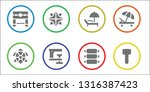 filled icon set. 8 filled... | Shutterstock .eps vector #1316387423