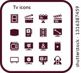 tv icon set. 16 filled tv icons....   Shutterstock .eps vector #1316387459